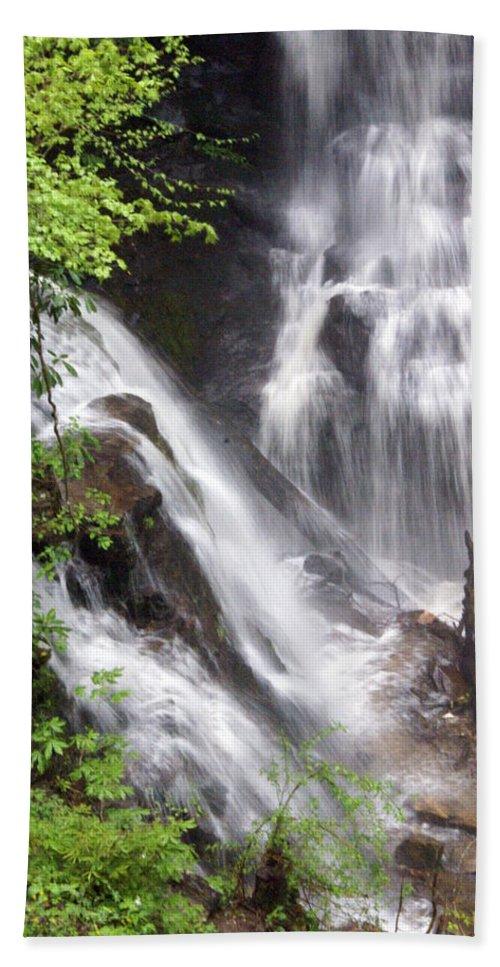 Soco Galls Bath Towel featuring the photograph Soco Falls 2 by Marty Koch