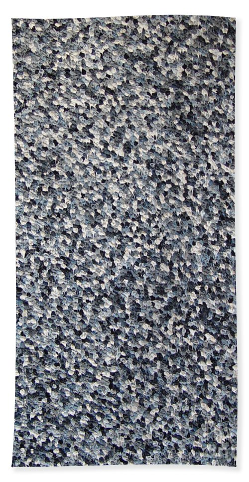 Abstract Hand Towel featuring the painting Soft Grey Scale by Dean Triolo