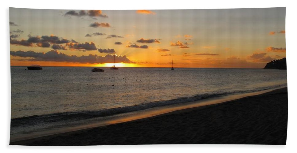 Sunset Bath Towel featuring the photograph Soft Warm Quiet Sunset by Ian MacDonald