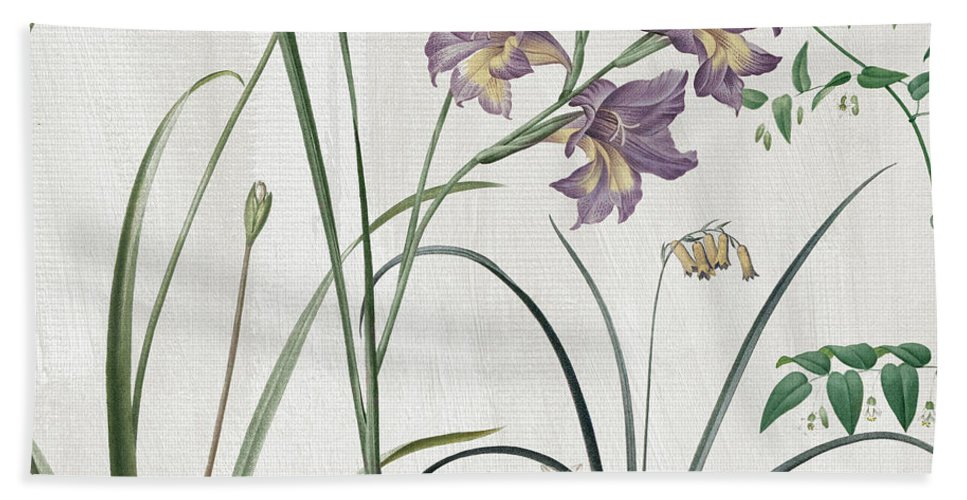 Purple Crocus Bath Towel featuring the painting Softly Purple Crocus by Mindy Sommers