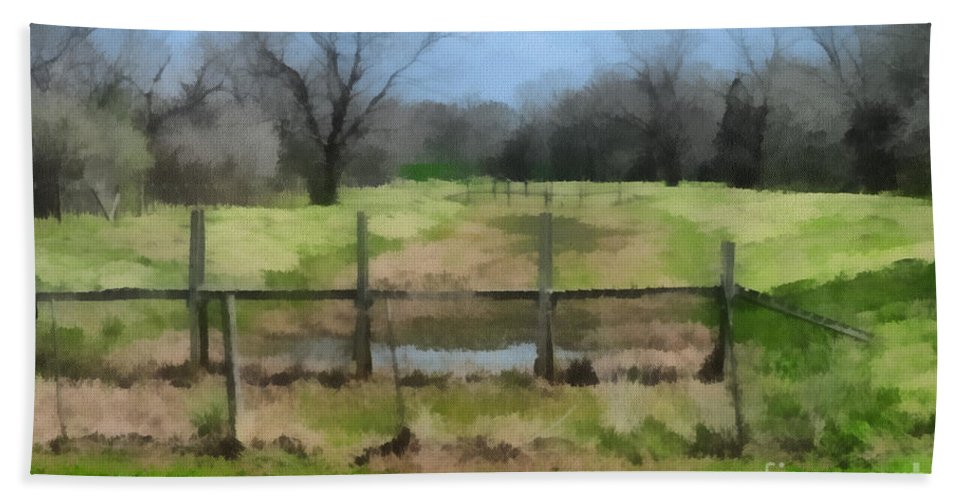 Corporate Bath Sheet featuring the photograph Soggy Texas Bayou by Paulette B Wright