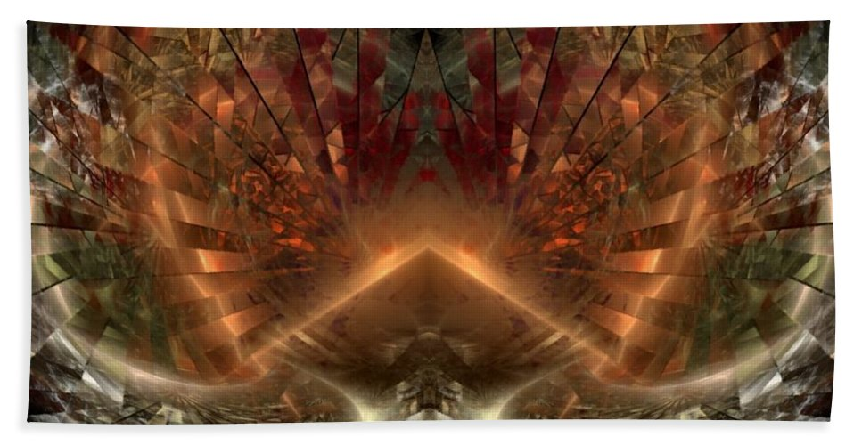 Sun Hand Towel featuring the digital art Sol Invictus by NirvanaBlues