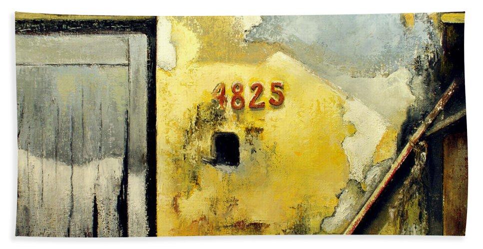 Havana Bath Sheet featuring the painting Solana by Tomas Castano