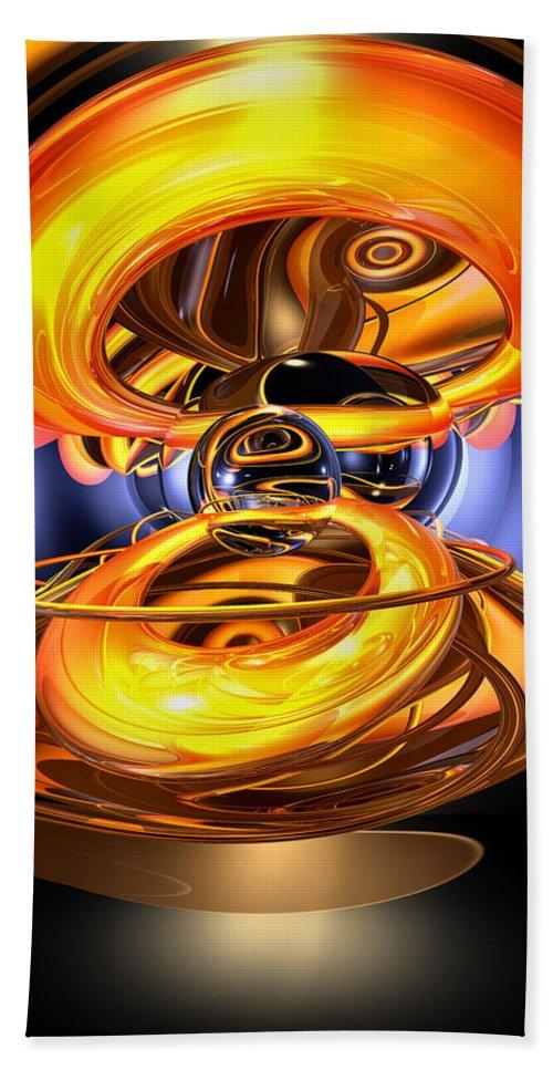 3d Bath Towel featuring the digital art Solar Flare Abstract by Alexander Butler