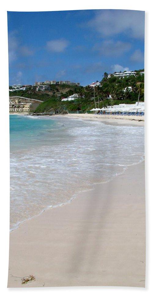 Dawn Beach Bath Sheet featuring the photograph Solitude on Dawn Beach by Margaret Bobb