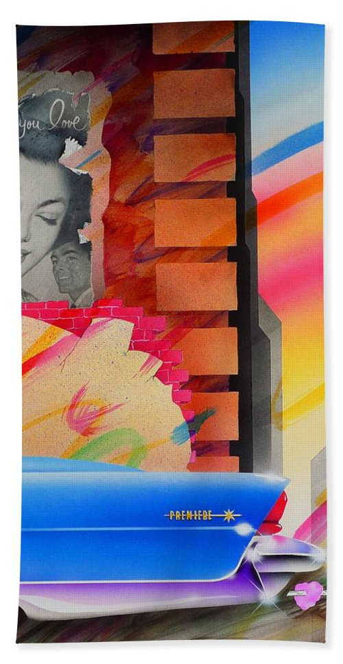 Collage Hand Towel featuring the painting Someone You Love by Charles Stuart