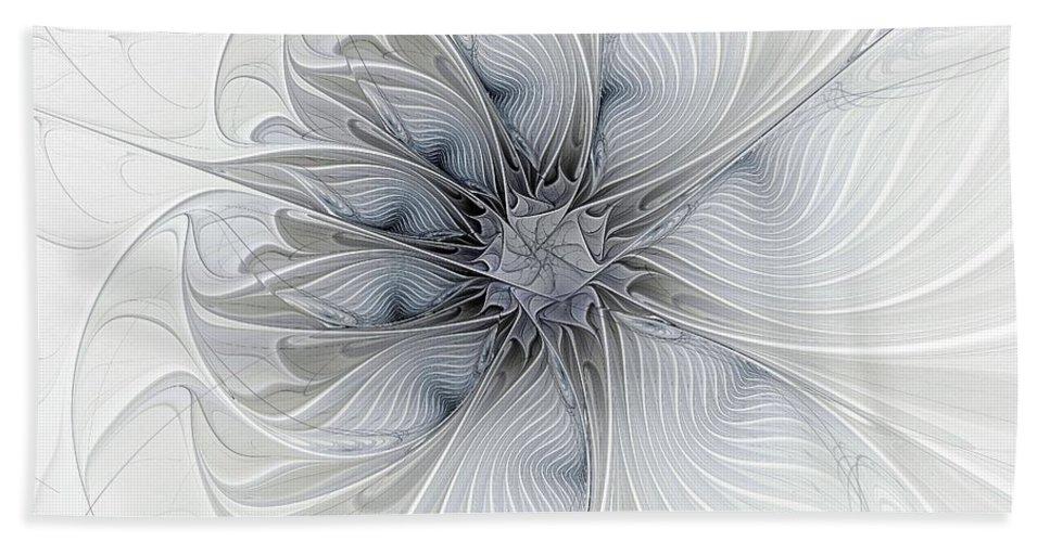 Digital Art Hand Towel featuring the digital art Something Blue by Amanda Moore