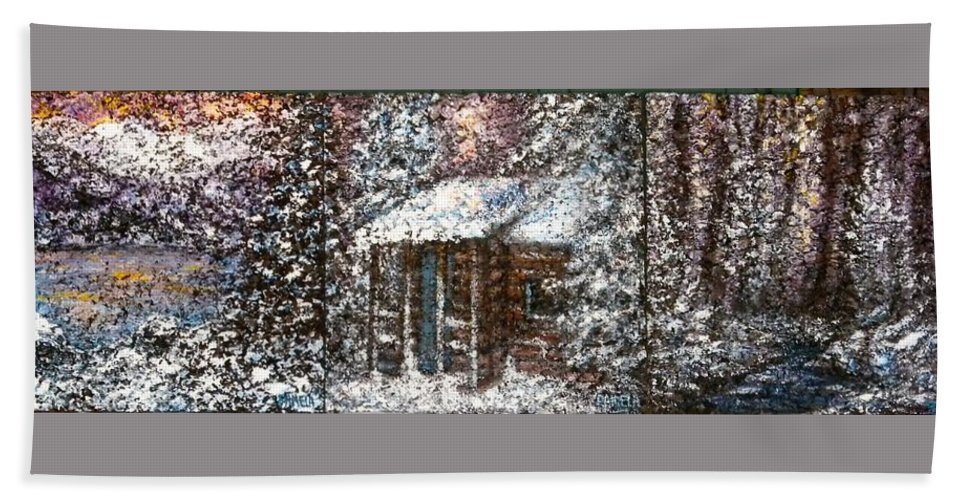Winter Bath Sheet featuring the painting Sometimes In Winter by Pamela Stroberg