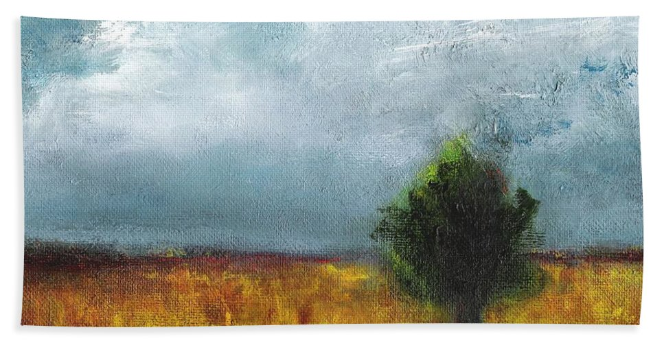 Landscapes Bath Sheet featuring the painting Sometimes The Light Is Just Right by Frances Marino
