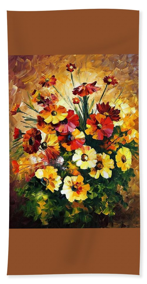 Afremov Hand Towel featuring the painting Songs Of My Heart by Leonid Afremov