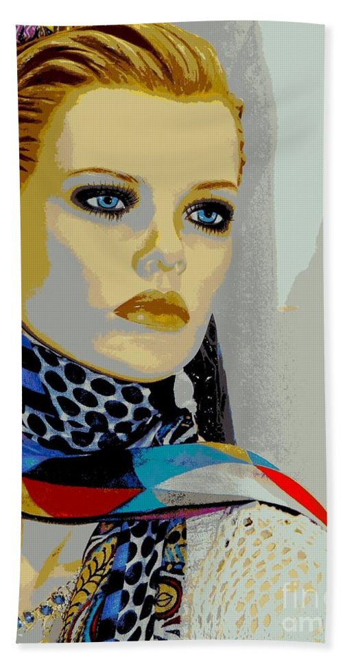 Mannequins Hand Towel featuring the photograph Sonya by Ed Weidman