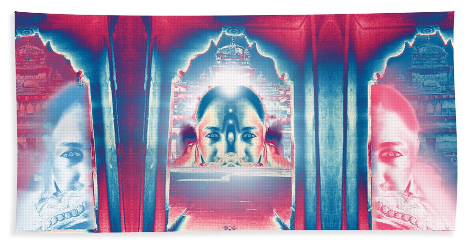 Soul Hand Towel featuring the digital art Soul Search - Part 2 -search For Truth by Rupali Sharma