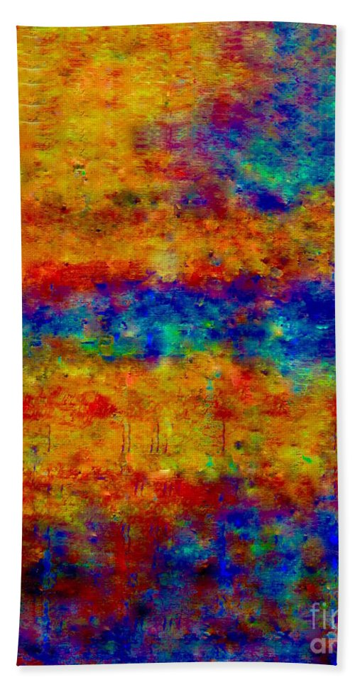 A Hand Towel featuring the painting South Beach by Catalina Walker