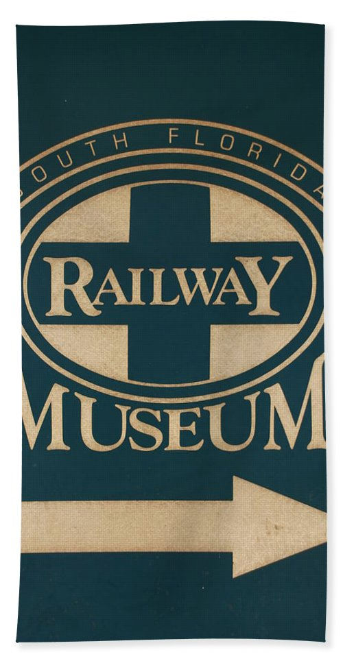 South Florida Railway Museum Bath Sheet featuring the photograph South Florida Railway Museum by Rob Hans