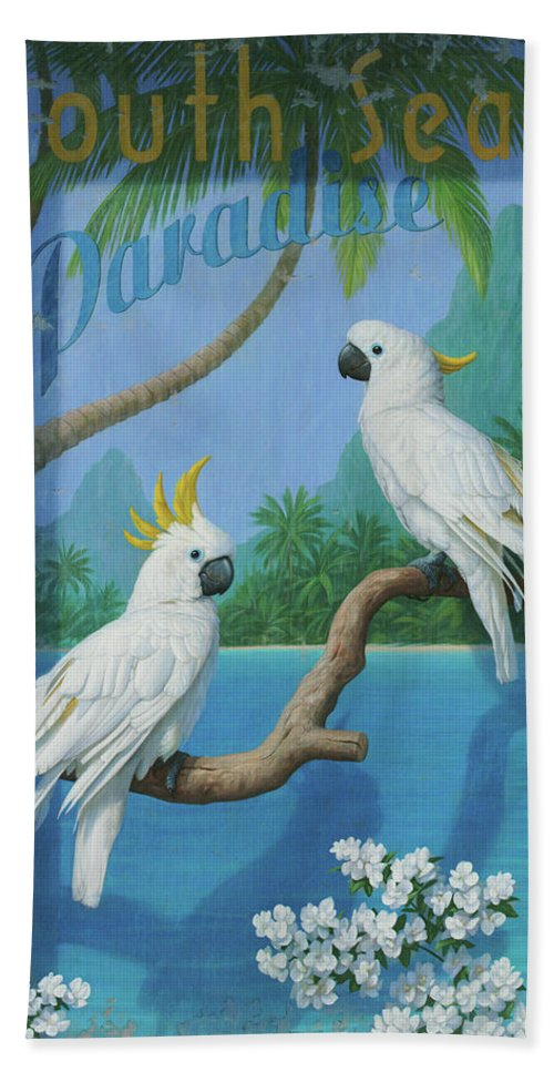 South Seas Bath Towel featuring the painting South Seas by Brian McCarthy