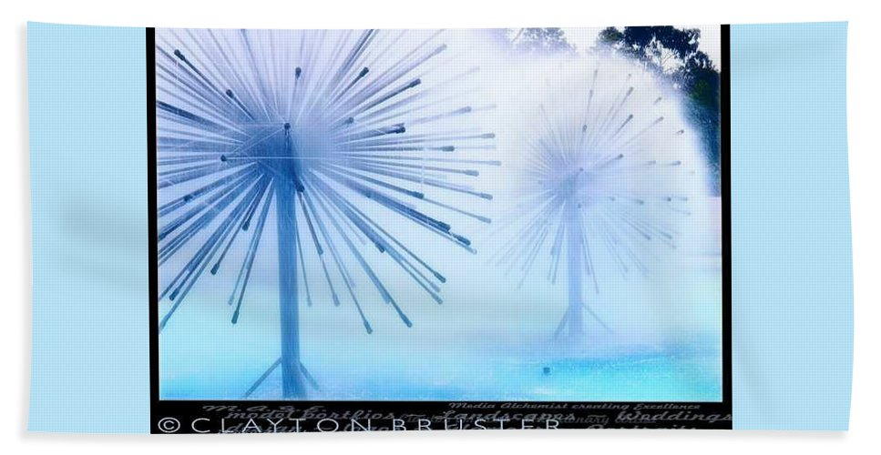 Clay Bath Towel featuring the photograph Southern California Fountains by Clayton Bruster