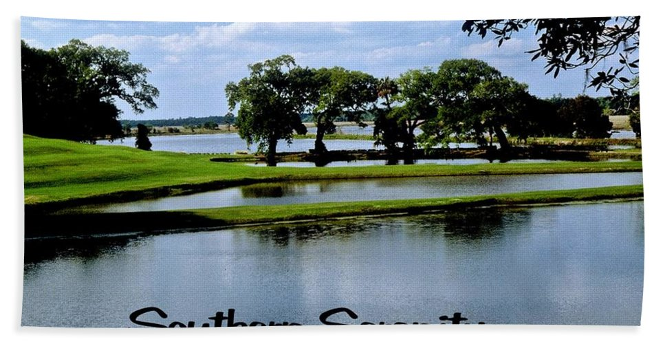 Lake Hand Towel featuring the photograph Southern Serenity by Gary Wonning