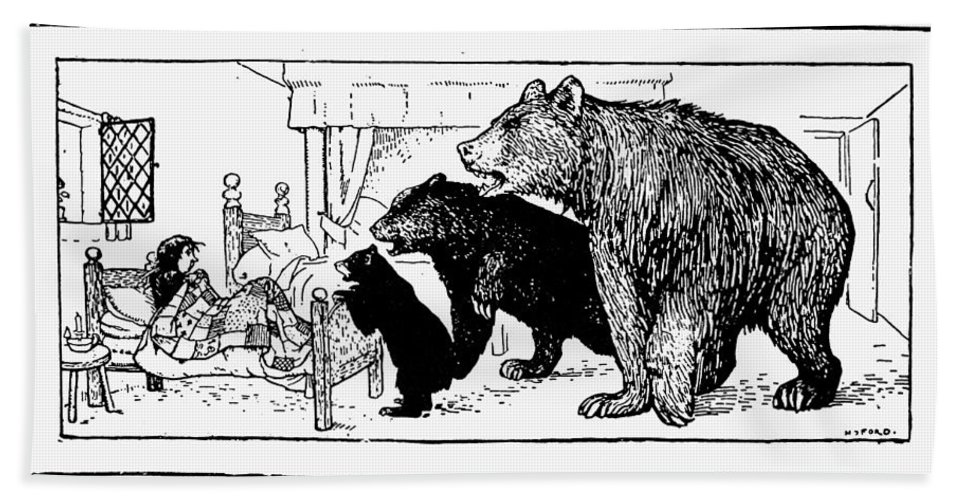 1892 Bath Sheet featuring the photograph Southey: Three Bears, 1892 by Granger