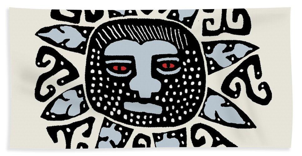 Tribal Sun Bath Sheet featuring the digital art Southwest Tucson Sun by Vagabond Folk Art - Virginia Vivier