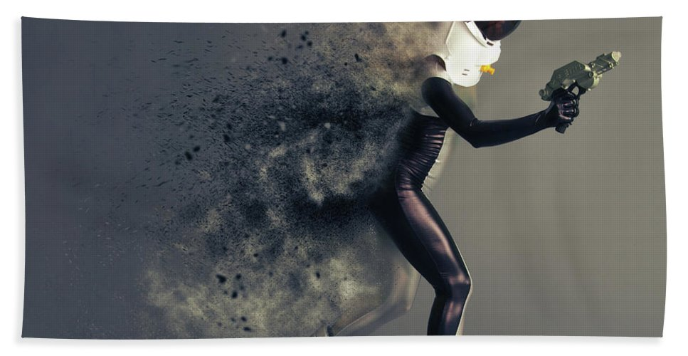Space Bath Towel featuring the photograph Space Cadet by Smart Aviation