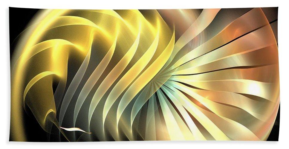 Apophysis Hand Towel featuring the digital art Space Mollusk by Kim Sy Ok