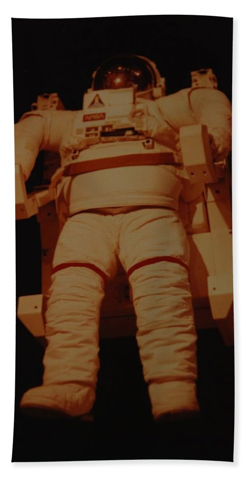 Nasa Bath Sheet featuring the photograph Space Suit by Rob Hans