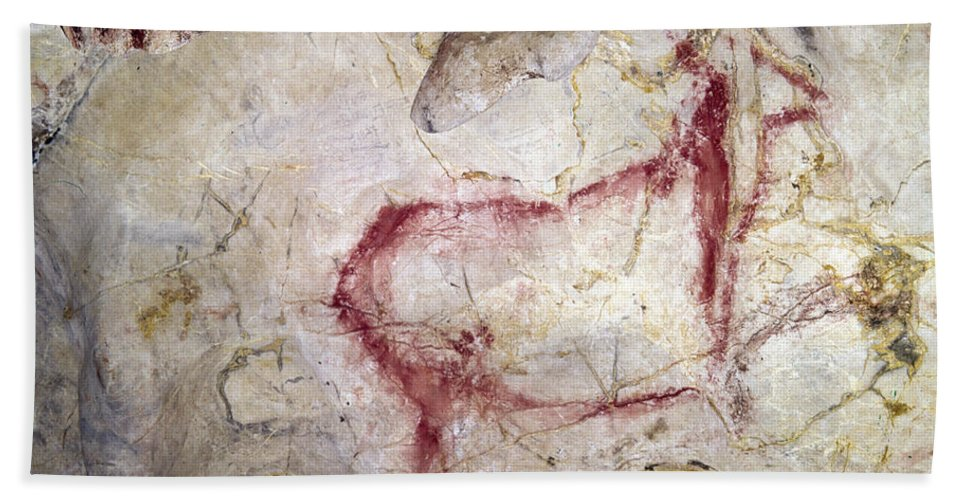 15000 Bath Sheet featuring the photograph Spain: Cave Painting by Granger