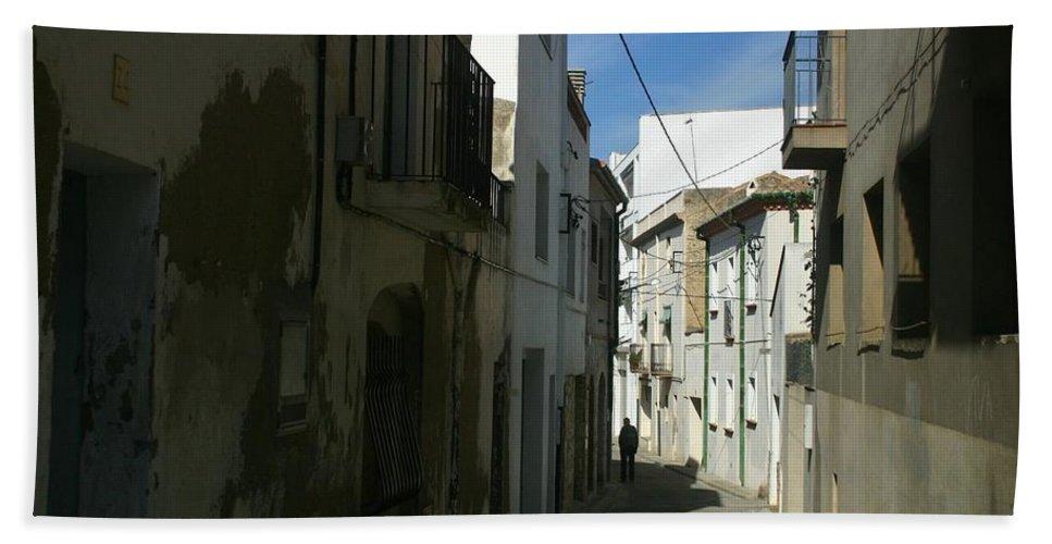 Spain Bath Sheet featuring the photograph Spain One Way by Minaz Jantz