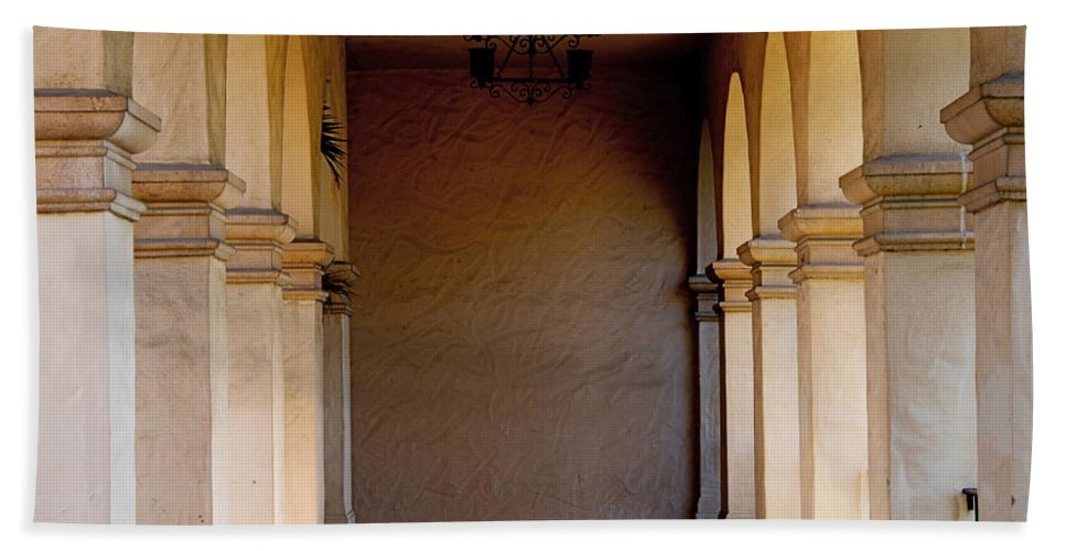 Corridors Hand Towel featuring the photograph Spanish Corridor by Rose Webber Hawke