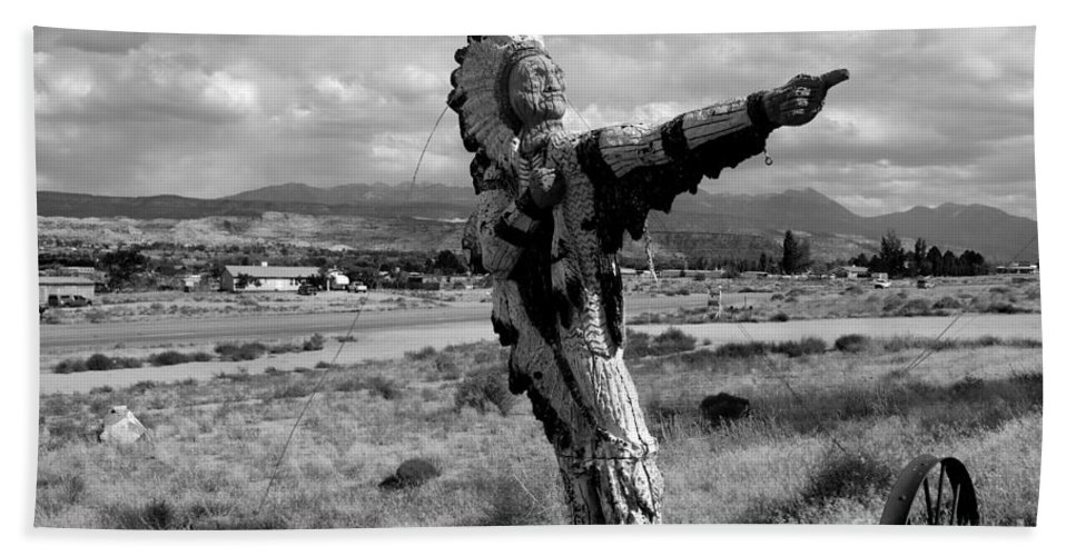 Moab Utah Hand Towel featuring the photograph Spanish Valley Indian by David Lee Thompson