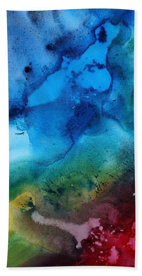 Painting Bath Sheet featuring the painting Speak To Me 3 by Megan Duncanson