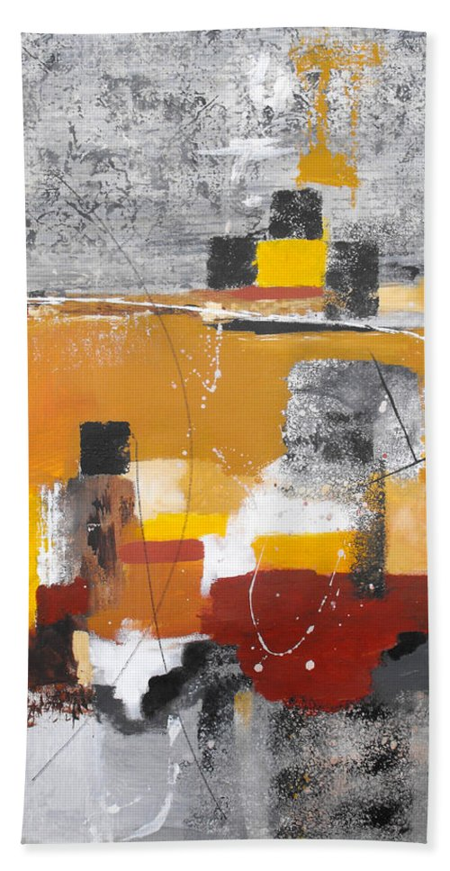 Abstract Bath Sheet featuring the painting Special Circumstances II by Ruth Palmer