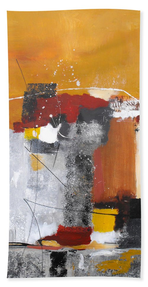 Abstract Bath Sheet featuring the painting Special Circumstances by Ruth Palmer