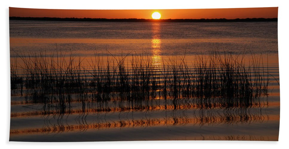 Sunset Hand Towel featuring the photograph Spectacular Sunset by Susanne Van Hulst