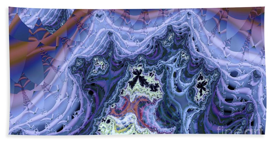 Fractal Hand Towel featuring the digital art Spectral by Ron Bissett