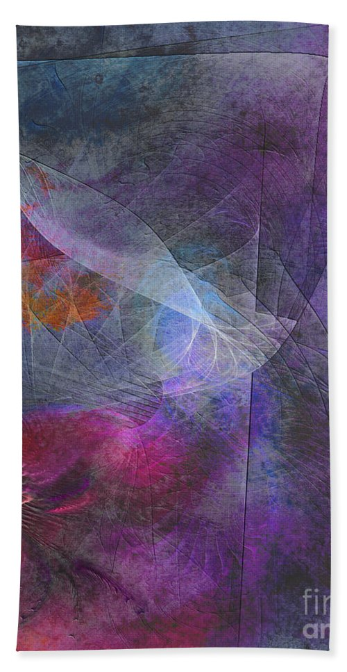 Spectrum Twist Hand Towel featuring the digital art Spectrum Twist by John Beck
