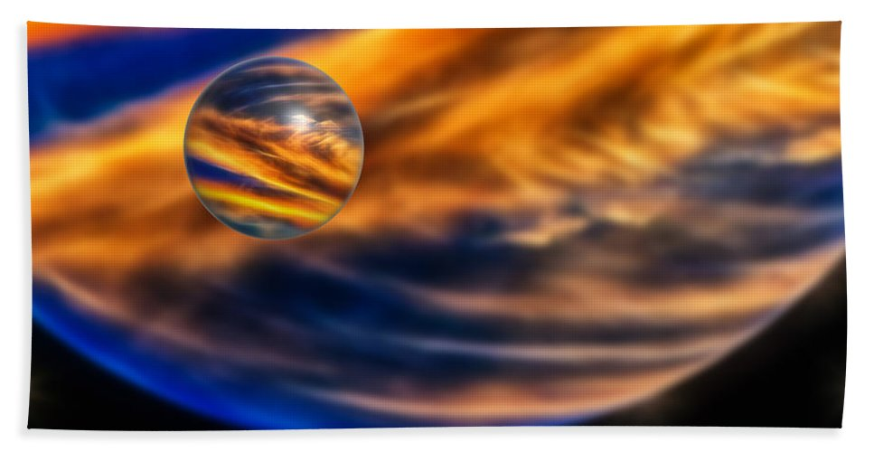 Abstract Bath Sheet featuring the photograph Sphere Of Influence by John M Bailey