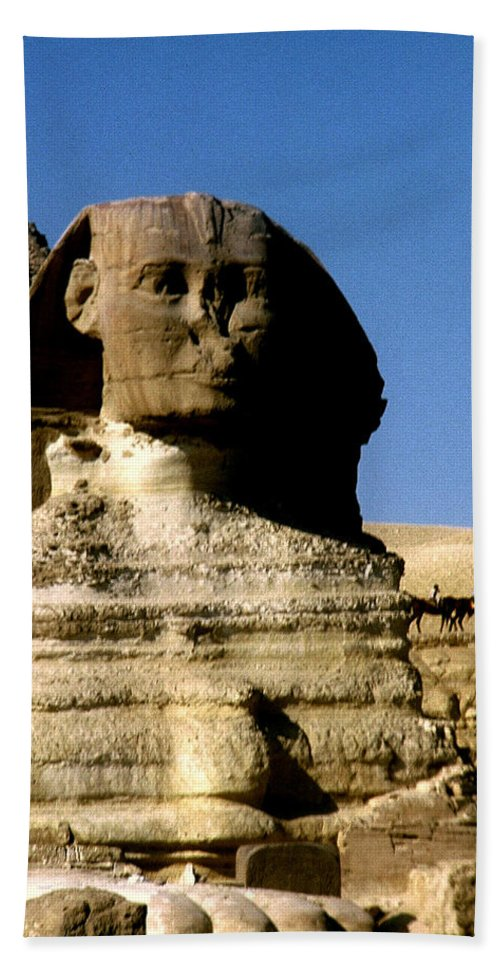 Sphinx Bath Sheet featuring the photograph Sphinx by Gary Wonning