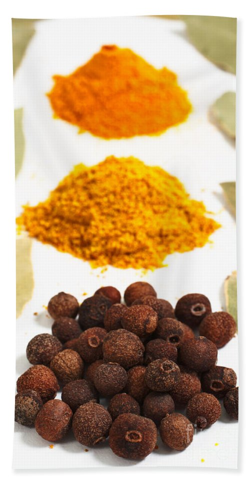 Curry Bath Towel featuring the photograph Spices by Gaspar Avila