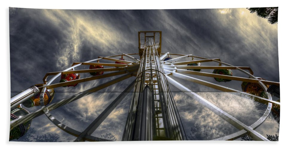 Amusement Hand Towel featuring the photograph Spinner by Wayne Sherriff