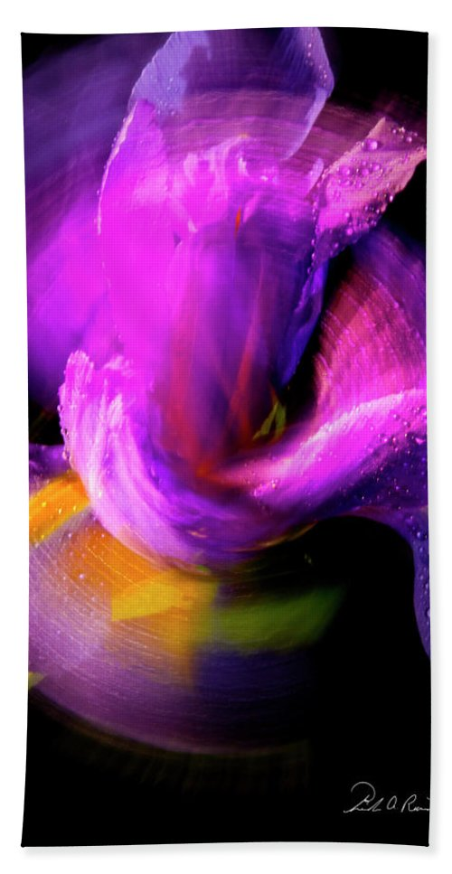 Color Bath Sheet featuring the photograph Spinning Iris by Frederic A Reinecke
