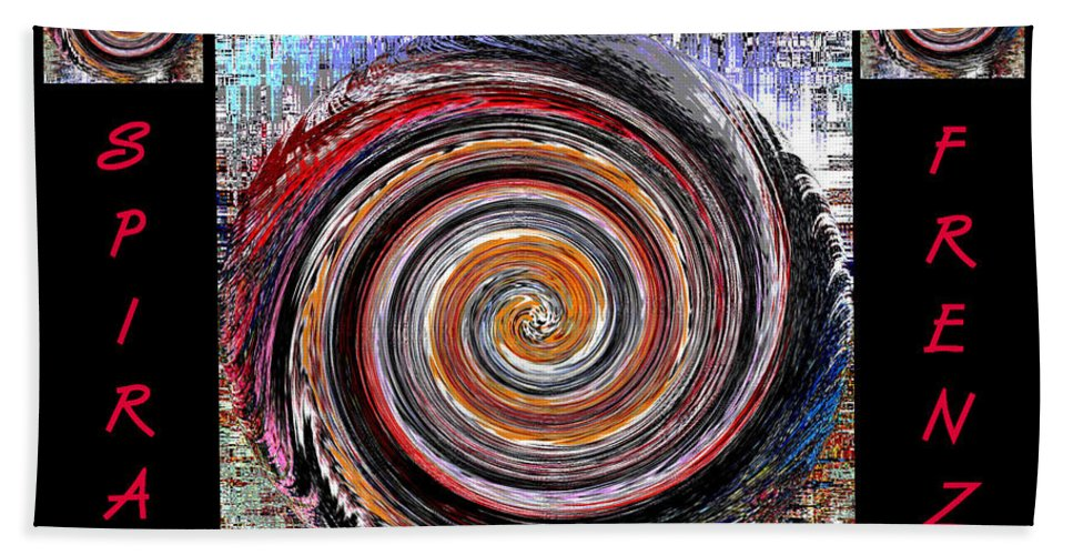 Digital Art Hand Towel featuring the photograph Spiral Frenzy Poster by Marian Bell