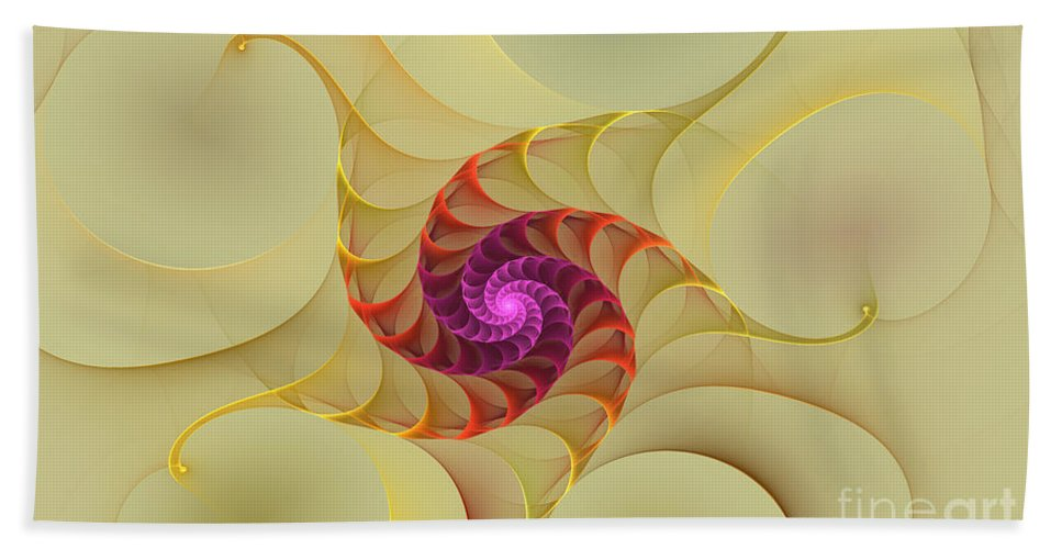 Digital Hand Towel featuring the digital art Spiral Rainbow Of Color by Deborah Benoit