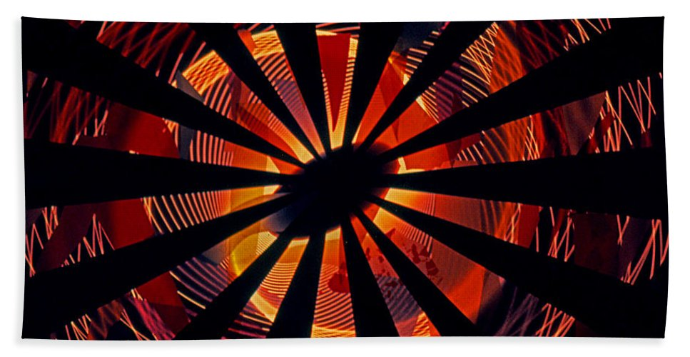 Abstracts Bath Sheet featuring the photograph Spiral To Infinity by Rich Walter