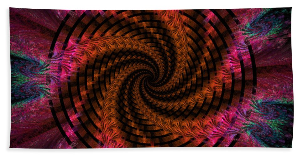 Digital Bath Sheet featuring the digital art Spiraling Into The Abyss by Deborah Benoit
