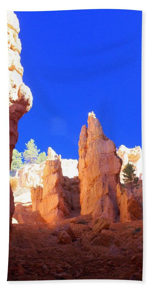 Bryce Canyon National Park Hand Towel featuring the photograph Spires by Marty Koch