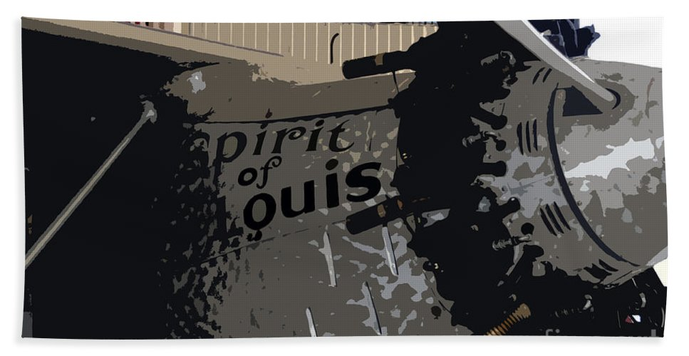 Spirit Of Saint Louis Bath Towel featuring the painting Spirit Of Saint Louis by David Lee Thompson