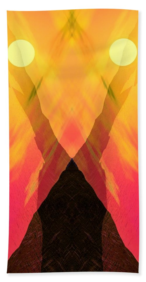 Hand Towel featuring the digital art Spirit Of The Mountain by David Lane