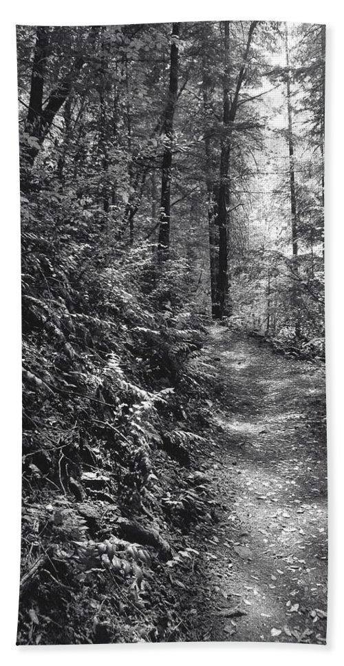 Landscape Bath Sheet featuring the photograph Spirit Of The Wood by Karen W Meyer