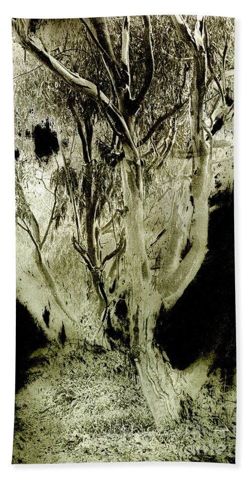Abstract Bath Towel featuring the photograph Spirit Tree by Paul W Faust - Impressions of Light